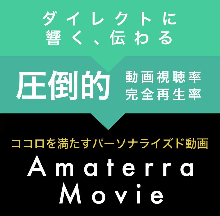 動画視聴率約90%、完全再生率約70%/お客様にダイレクトに伝わる!Amaterraのパーソナライズド動画